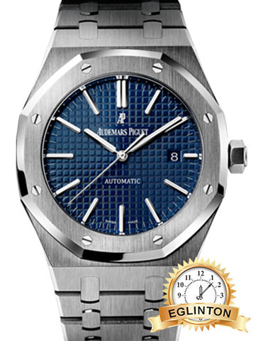 AUDEMARS PIGUET Royal Oak Blue Dial Stainless Steel Men's Watch 2014