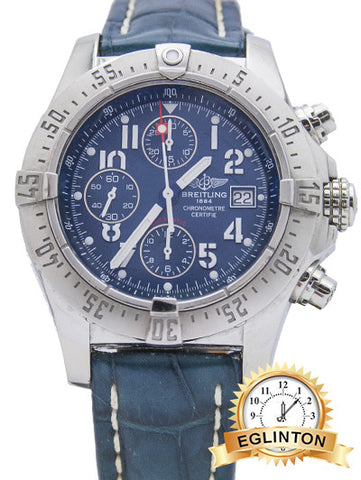 Breitling Avenger Skyland Stainless Steel Blue Dial W/ BOX & PAPERS