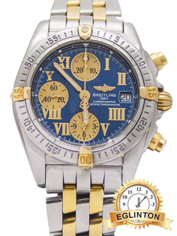BREITLING CHRONO COCKPIT B13357  Two Tone Blue Dial