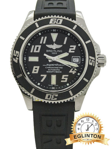 BREITLING Superocean 42 Automatic Black Dial Men's Watch A1736402-BA28