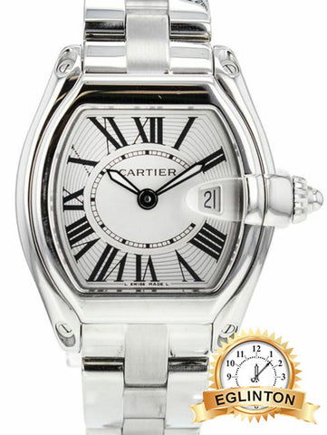 Cartier Roadster Stainless Steel W/ BOX & PAPERS ladies