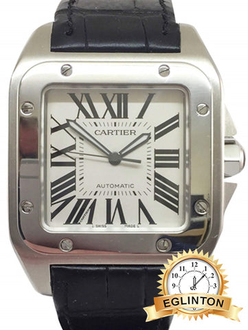 Cartier Santos 100 XL, 2656 stainless steel W/Box & Papers