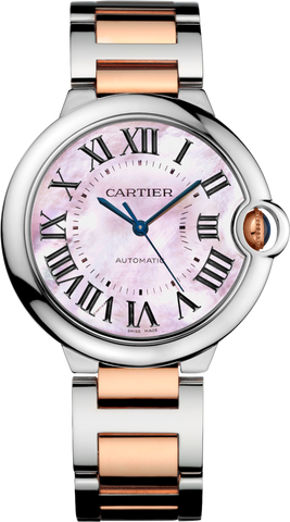 CARTIER BALLON BLEU 36 MM AUTOMATIC MOP PINK DIAL