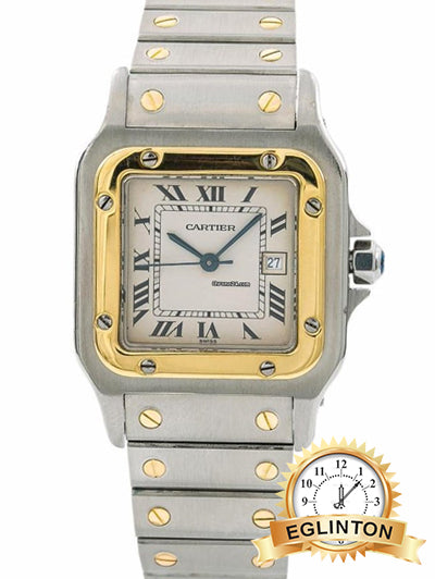 Cartier Santos Galbee ladies  Two Tone small Watch 29mm