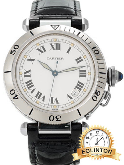 Cartier Pasha Seatimer Stainless Steel Automatic Wrist Watch