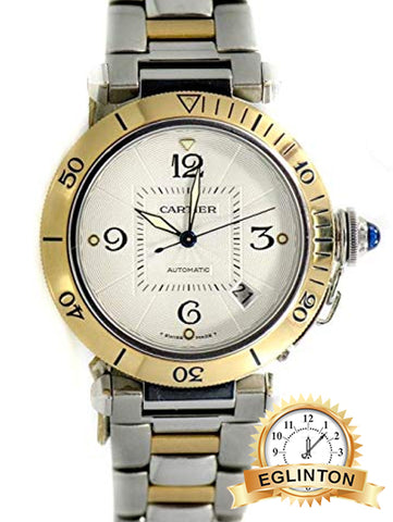 Cartier Pasha Swiss-Automatic Mens Watch 2378 Two Tone