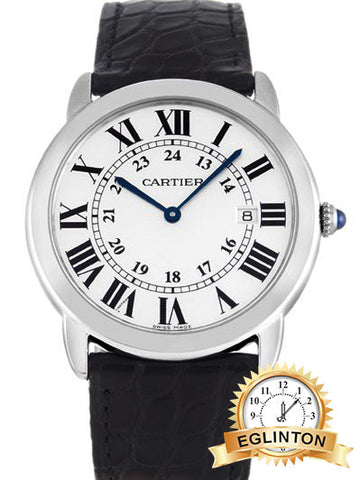 CARTIER RONDE SOLO W6700255 W/ Box & Papers