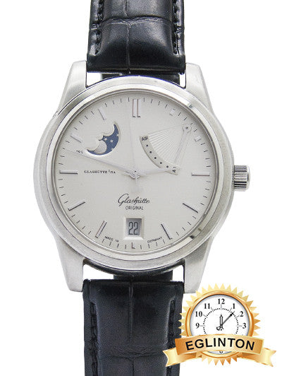GLASHUTTE SENATOR MOON POWER RESERVER DISPLAY 39-44-04-12-04 BOX&PAPER