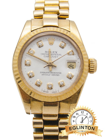 "ROLEX LADIES DATE MODEL 6917 ""AFTER MARKET BAND"""