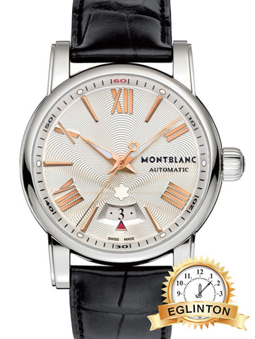 MONTBLANC Montblanc Star 4810 Automatic Silver Guilloche Dial Black Leather Men's Watch