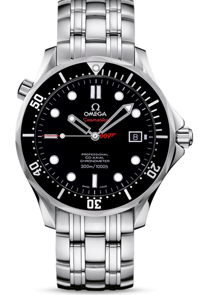 Omega S/S James Bond Seamaster B&P 21230412001001 Box & Pape