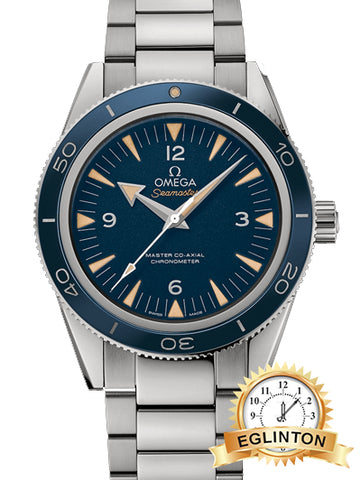 OMEGA Seamaster 300 Master Co-Axial Blue Dial Titanium Men's Watch