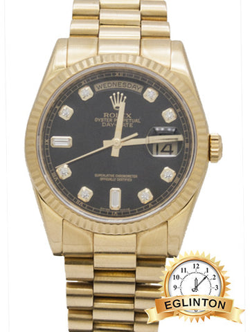 Rolex Daydate President 118238 36mm 18K Yellow Gold W/ BOX & PAPERS