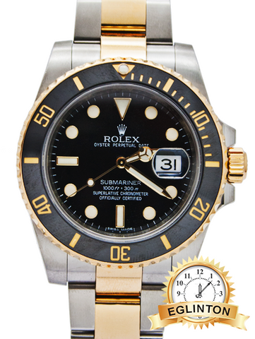 "Rolex Submariner 116613 Two Tone Ceramic Bezel ""2012"""
