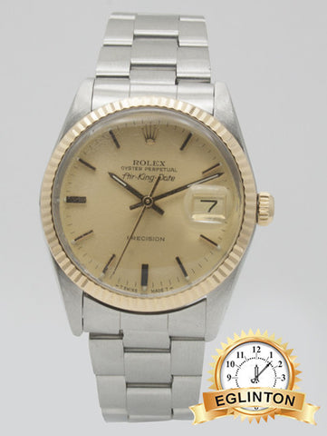 "Rolex airking date two tone precision ""1980"""