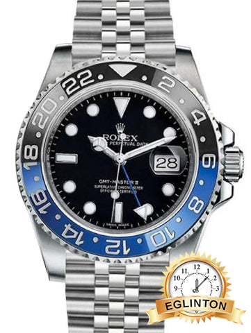 "Rolex GMT-Master II ""BATMAN"" 2017 With Rolex Super Jubliee Band"