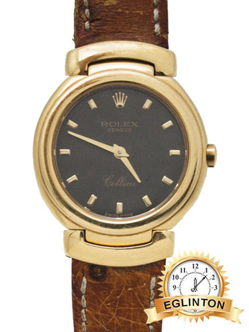 Rolex 1994 Cellini 18k Yellow Gold with Black jubilee dial W/ BOX & PAPERS