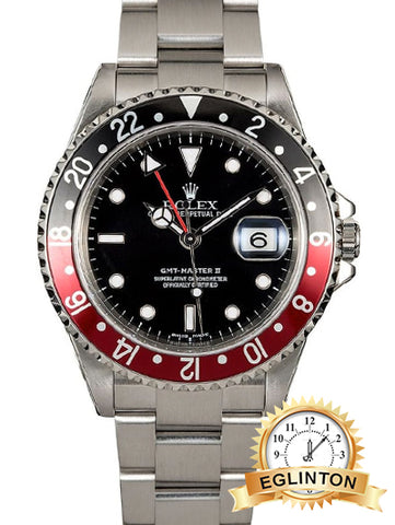 "ROLEX GMT MASTER II 16710 COKE ""2003"" Box & Papers"