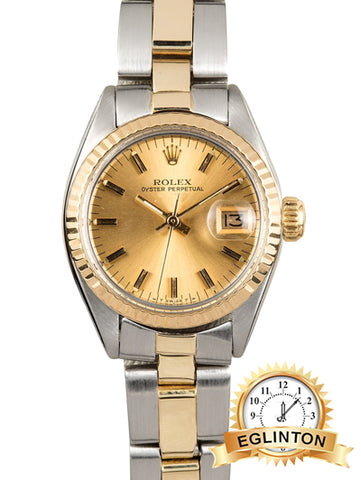 Rolex LADIES oyster perpetual 6919 TWO-TONE