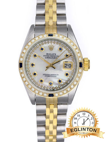 Rolex Lady Datejust 69173 Two-Tone 26mm Diamond Dial and Bezel