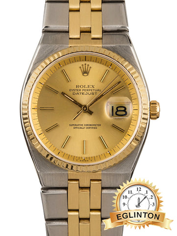 "ROLEX DATEJUST 1630 TWO TONE ""1976"""