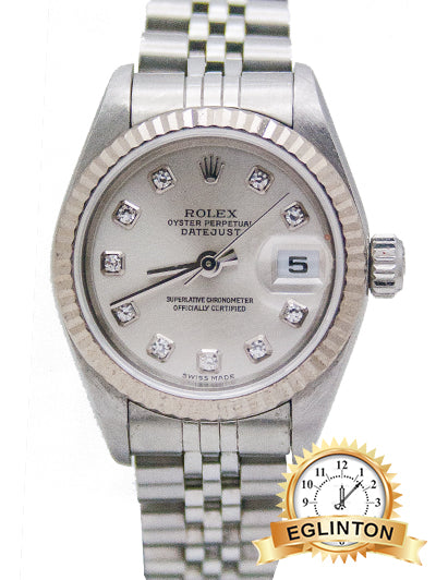 "Rolex Ladies Datejust 26mm with Grey Diamond Dial  79174 ""2005"""