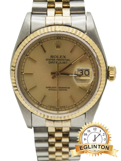 Rolex Oyster Datejust, 16013, Stainless Steel and Gold Jubilee Bracelet