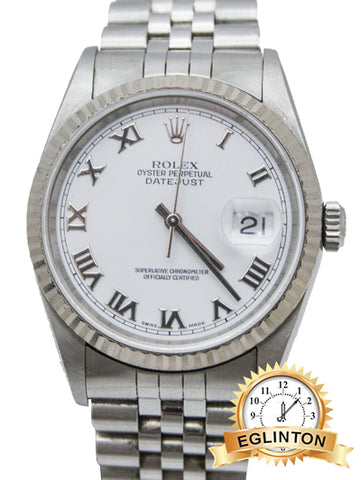 Rolex Datejust 36mm Stainless Steel White Roman Numeral /ON HOLD