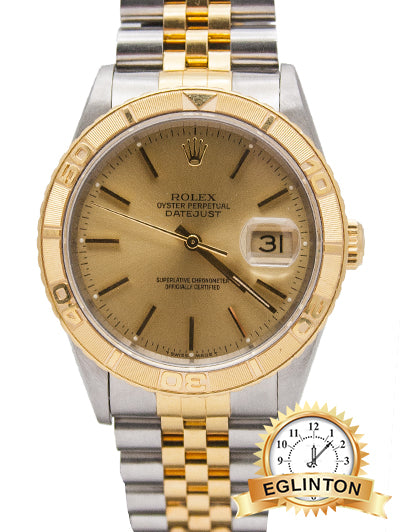 ROLEX DATEJUST TURN-O-GRAPH 16263 JUBILEE BAND W/Box & Papers