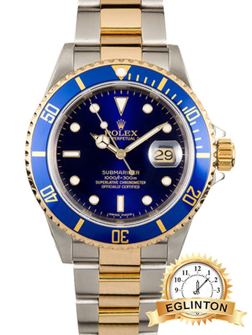 ROLEX SUBMARINER BLUE 16613 TWO TONE