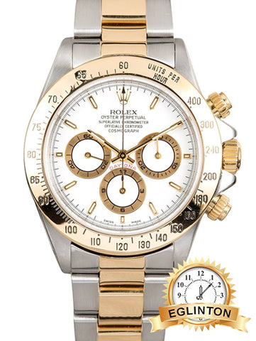 Rolex Daytona 116523 Two Tone White Dial 2004