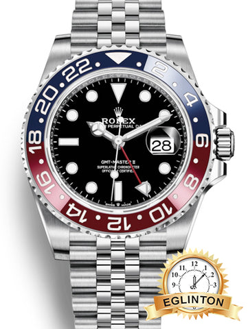 "Brand New Rolex GMT-Master II ""Pepsi"" in Stainless Steel 126710 BLRO"