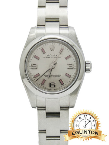 ROLEX LADY OYSTER PERPETUAL Oyster, 26 mm Box & Paper