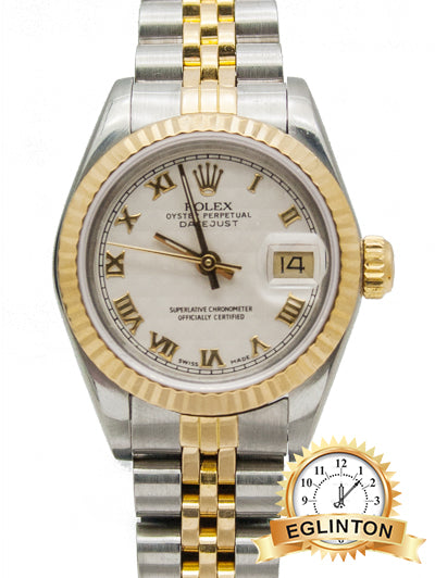 "Rolex Datejust 69173  Two Tone  with Motif Cream Dial 26mm  ""1988"""