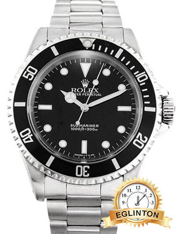 Rolex Submariner  14060 M No date stainless steel W/Box & Papers 2011 rehault Rare