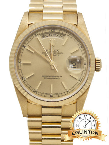 Rolex Men's Day Date President - Champagne Index -