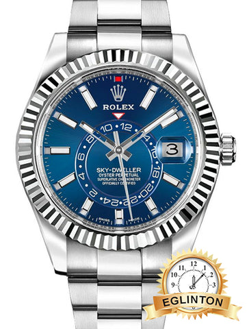 Rolex Sky-Dweller Blue Dial 42mm Luxury Men's Watch 326934