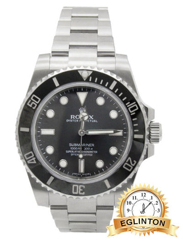 "Rolex SUBMARINER NO DATE CERAMIC 114060 ""2014"""