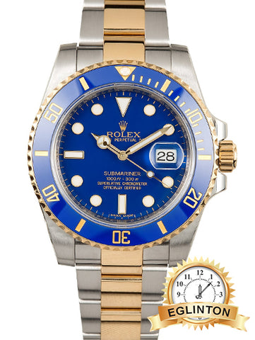 Brand New ROLEX CERAMIC SUBMARINER 116613 BLUE -Box & Papers NO NAME ON CARD