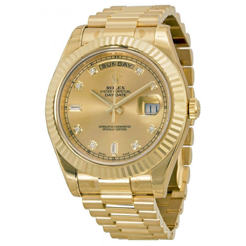 Rolex President II Day-Date 41 mm Yellow Gold Diamond Dial  Box & Paper