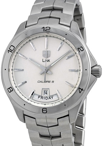 TAG HEUER Link Silver Dial Stainless Steel Automatic Men's Watch