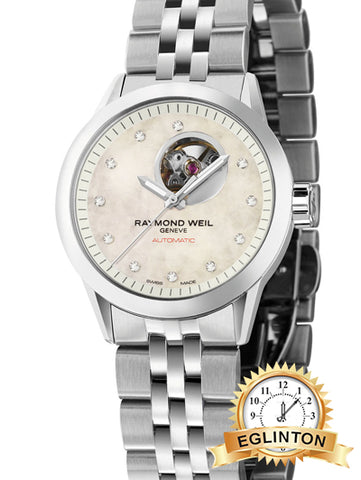 "RAYMOND WEIL Freelancer Stainless Steel Automatic Ladies Watch""Christmas Sale""!"