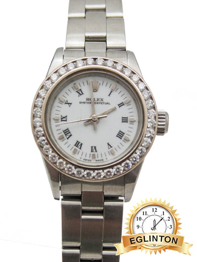 "Rolex Oyster Perpetual Ladies Steel Watch 67180 ""1990"""