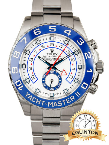 NEW ROLEX Yacht-Master II White Dial Stainless Steel Oyster Bracelet Automatic Men's Watch