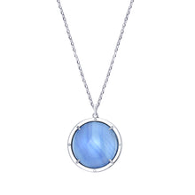Load image into Gallery viewer, Agata Azzurra Talisman with White Sapphires and Blue Topaz