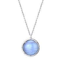 Load image into Gallery viewer, Agata Azzurra Talisman Pendant with White Sapphires and Blue Topaz