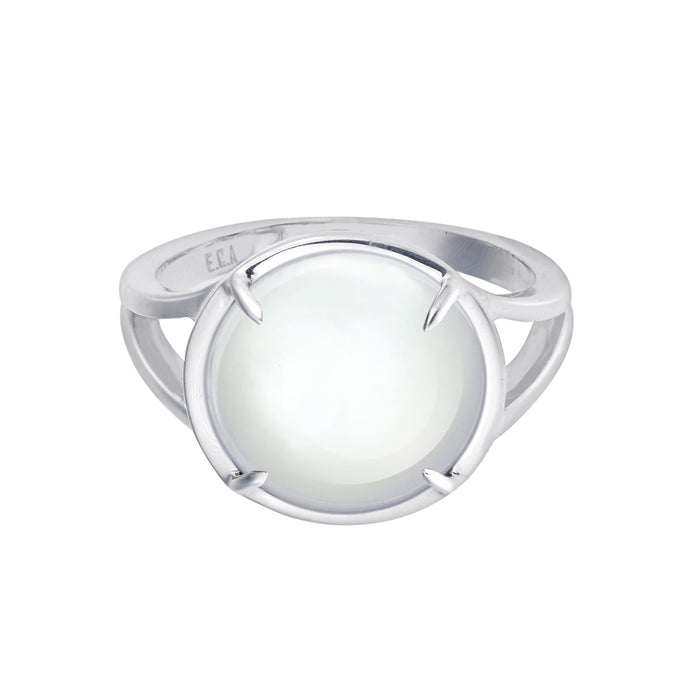 Clear Quartz Crystal Talisman Ring - by Erica Corte Atelier