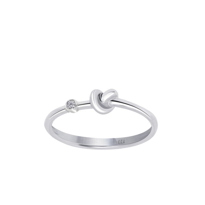 Love Knot Ring With White Diamond