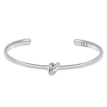 Load image into Gallery viewer, Love Knot Bracelet | Men  This simple design is handcrafted with Sterling Silver to convey the message of eternal love.  Sterling Silver