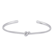 Load image into Gallery viewer, Sterling Silver Love Knot Bracelet - Women   This simple design is handcrafted with Sterling Silver to convey the message of eternal love